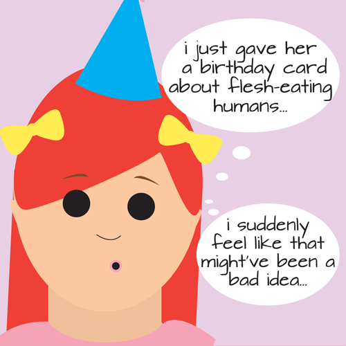 Panic Started Seeping In As She Flipped Open The Card